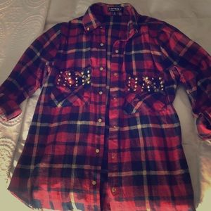 Studded Fall Flannel